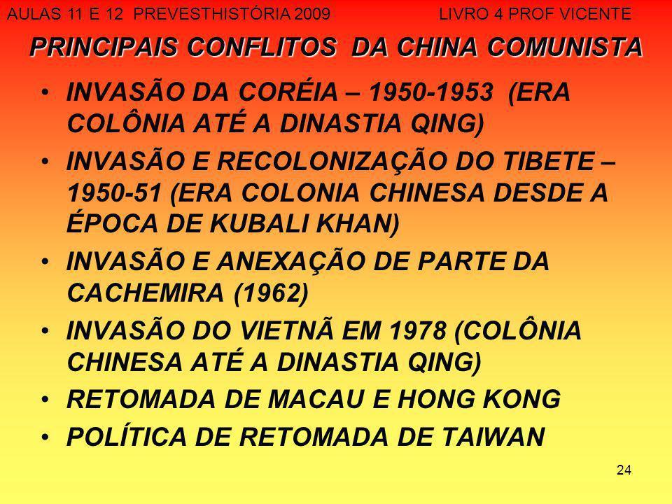 PRINCIPAIS CONFLITOS DA CHINA COMUNISTA
