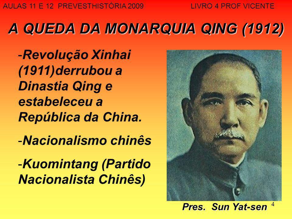 A QUEDA DA MONARQUIA QING (1912)
