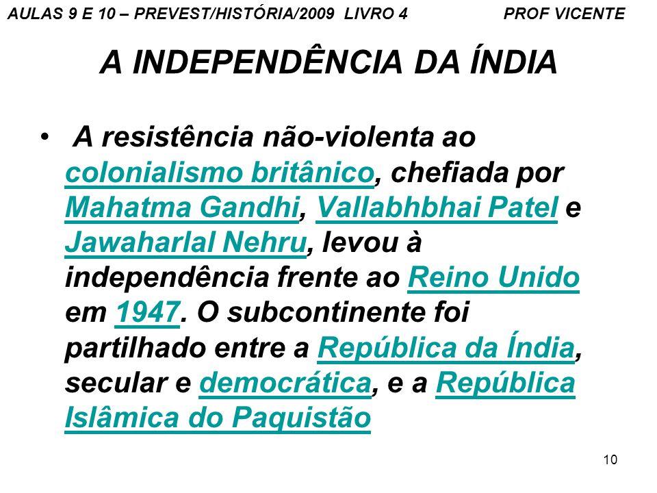 A INDEPENDÊNCIA DA ÍNDIA