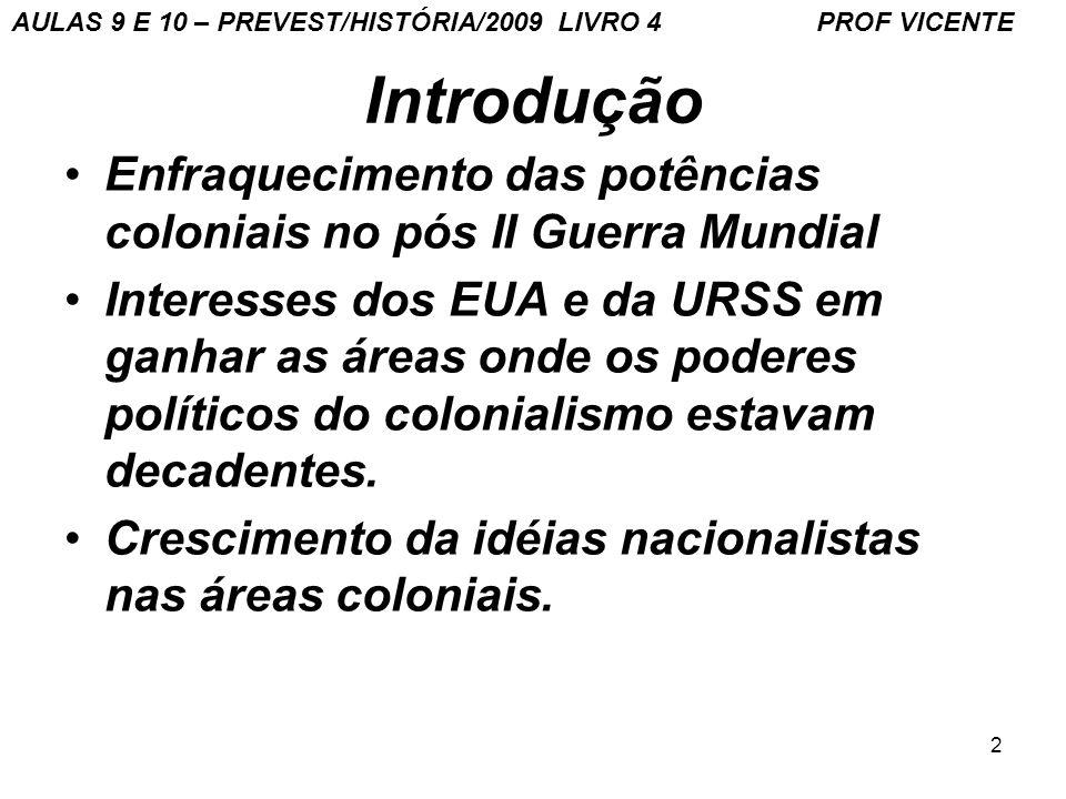 AULAS 9 E 10 – PREVEST/HISTÓRIA/2009 LIVRO 4 PROF VICENTE