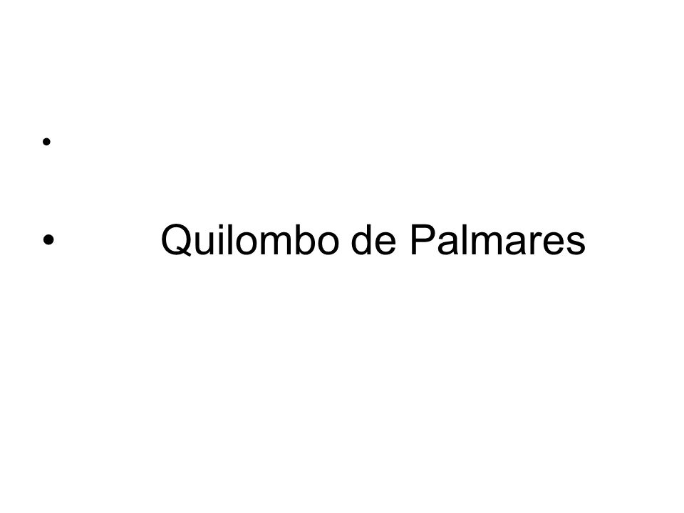 Quilombo de Palmares