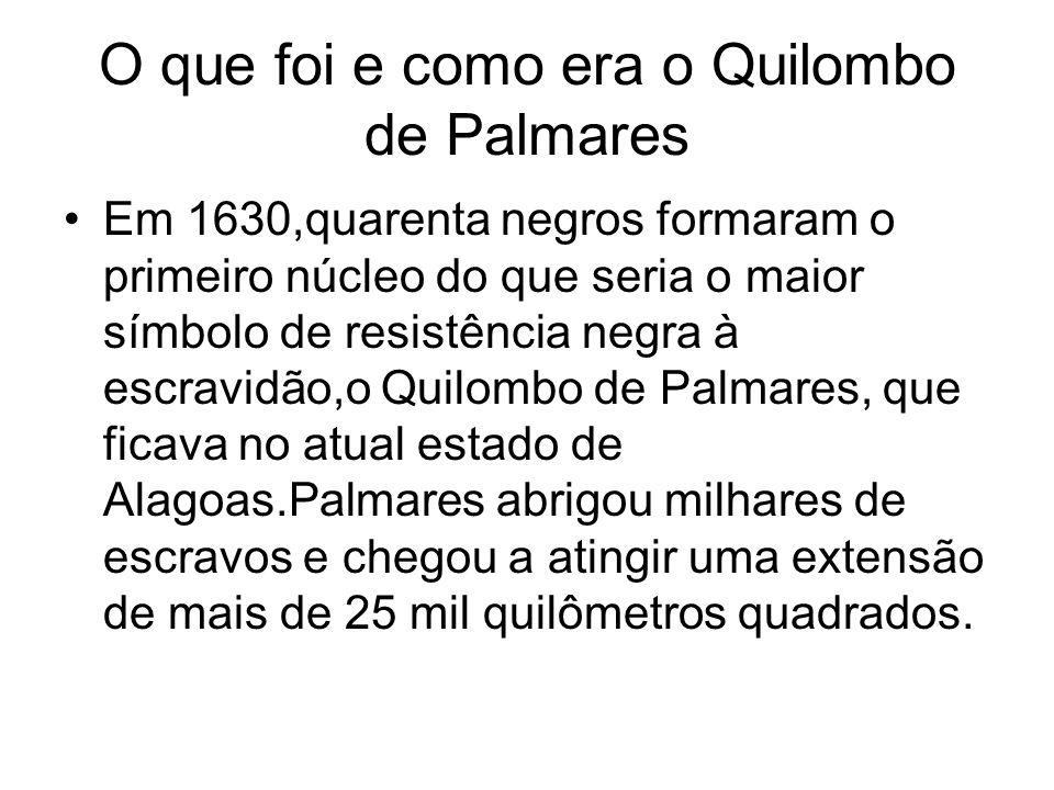 O que foi e como era o Quilombo de Palmares