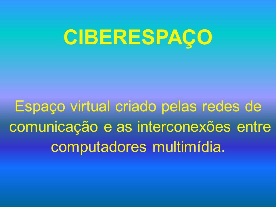 CIBERESPAÇO Espaço virtual criado pelas redes de