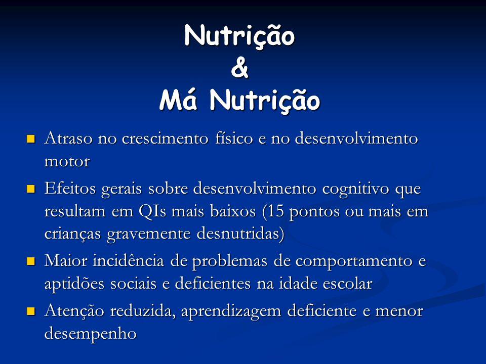 Nutrição & Má Nutrição Atraso no crescimento físico e no desenvolvimento motor.
