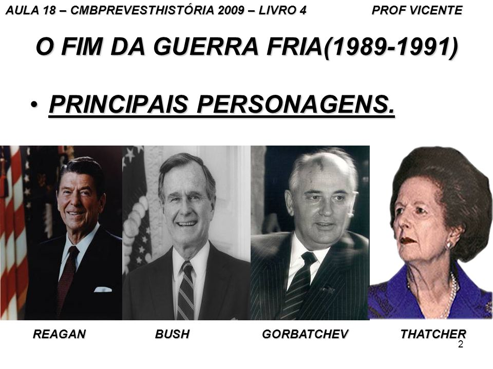 PRINCIPAIS PERSONAGENS.