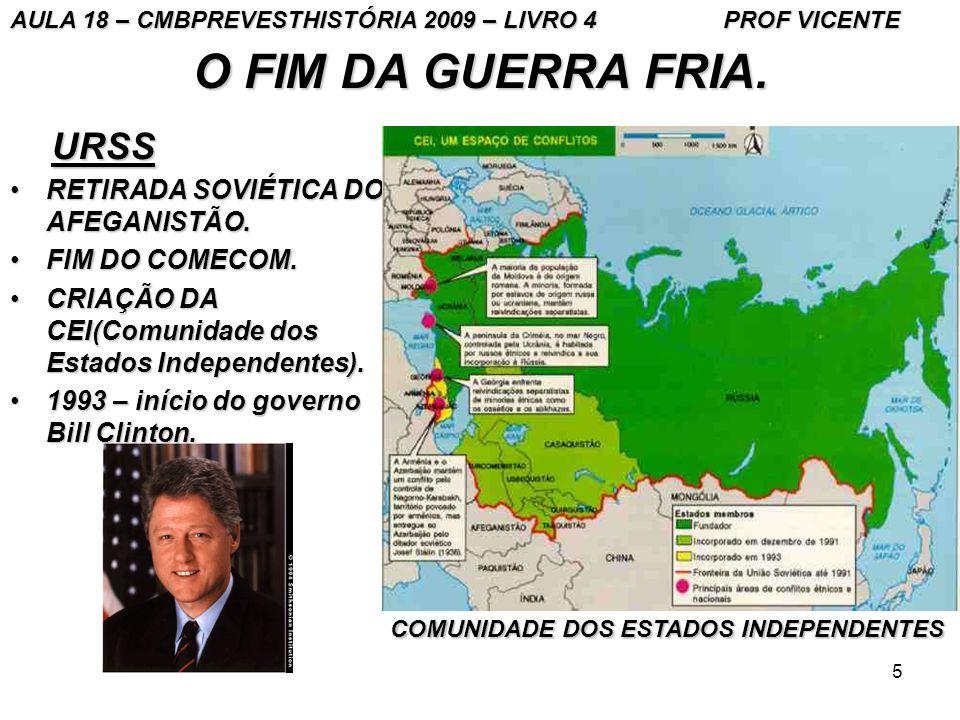 O FIM DA GUERRA FRIA. URSS RETIRADA SOVIÉTICA DO AFEGANISTÃO.