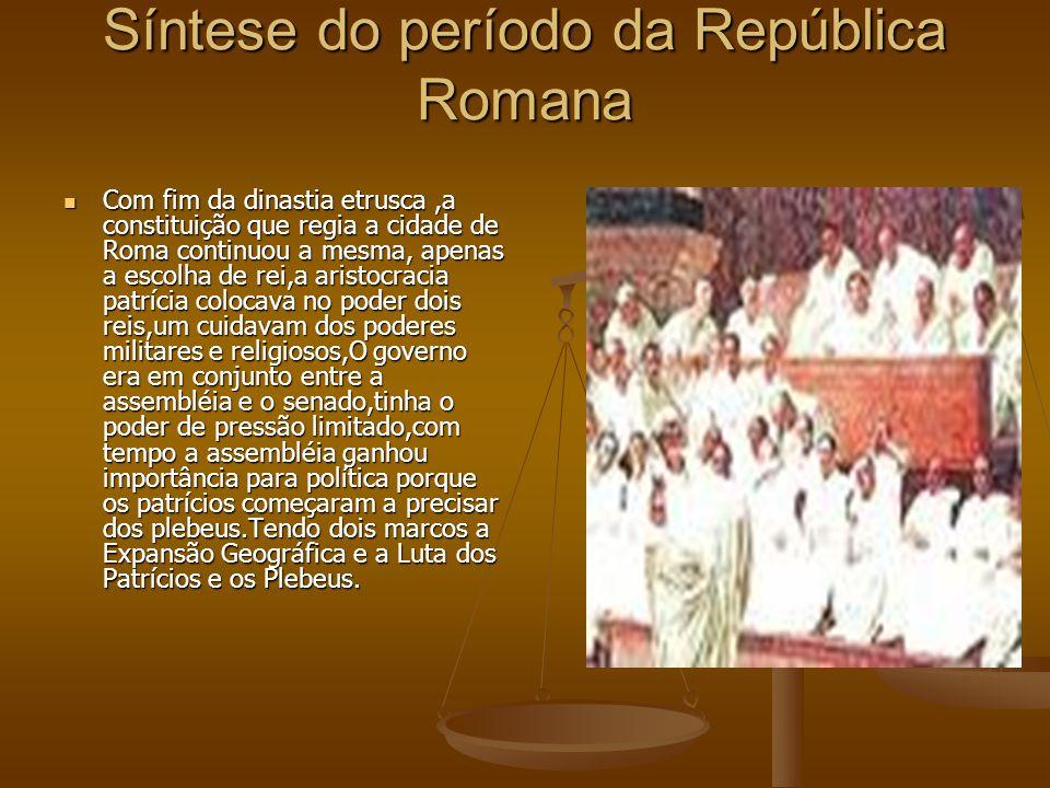 Síntese do período da República Romana