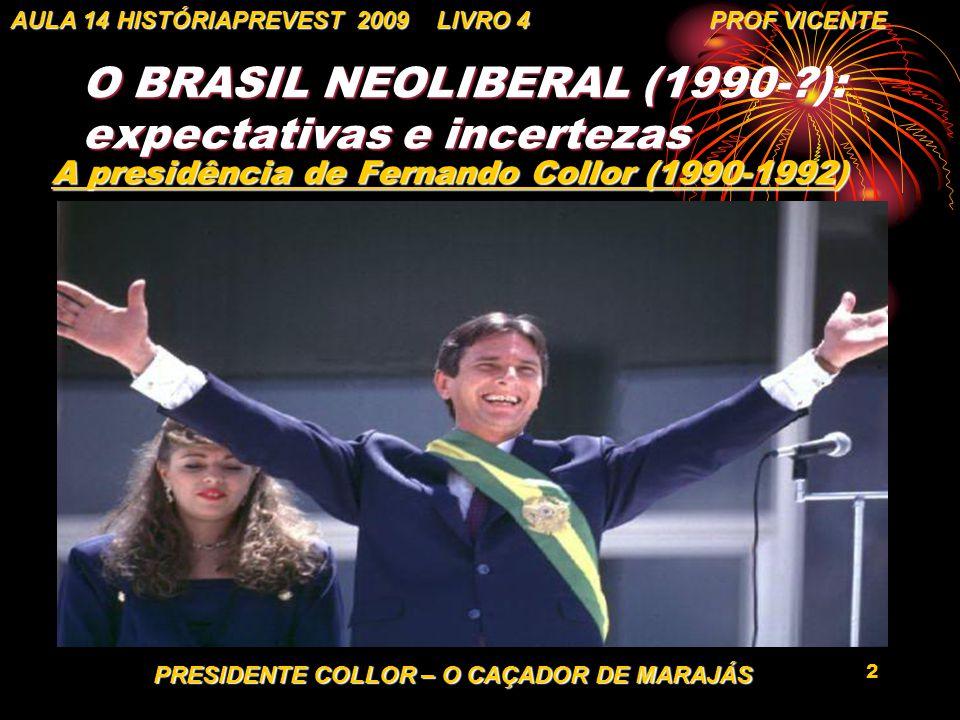O BRASIL NEOLIBERAL (1990- ): expectativas e incertezas