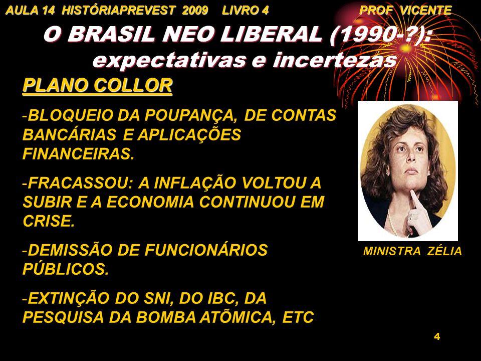 O BRASIL NEO LIBERAL (1990- ): expectativas e incertezas