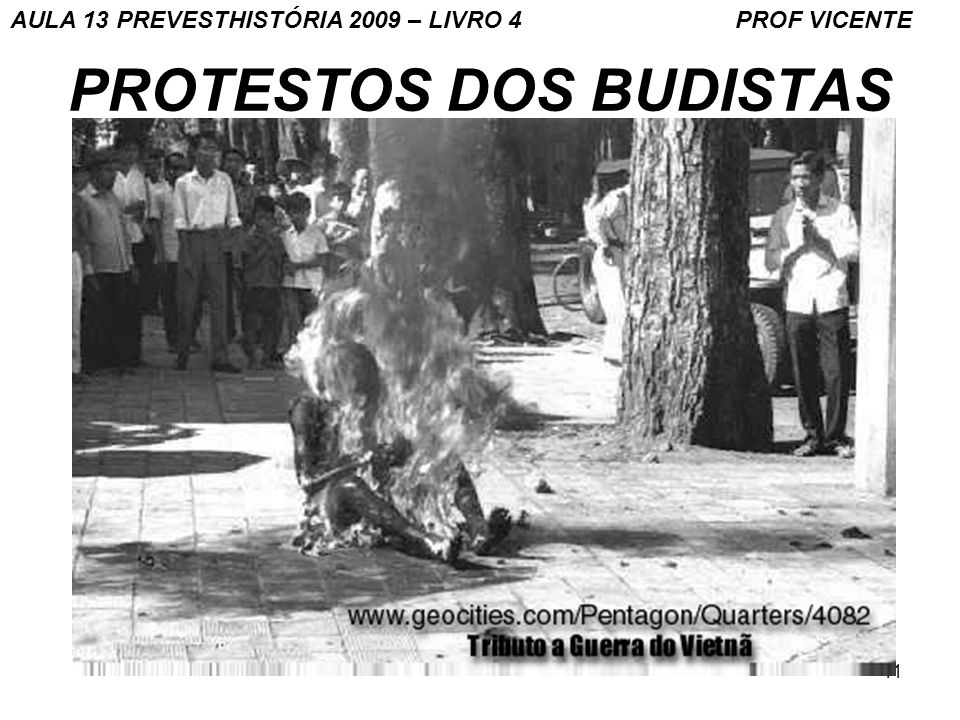PROTESTOS DOS BUDISTAS