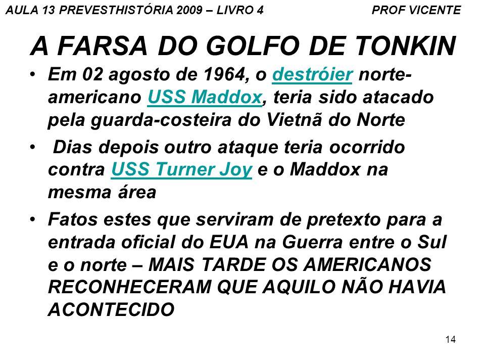 A FARSA DO GOLFO DE TONKIN