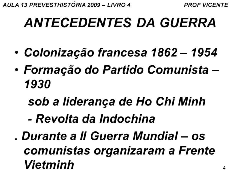 ANTECEDENTES DA GUERRA
