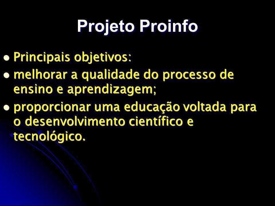 Projeto Proinfo Principais objetivos: