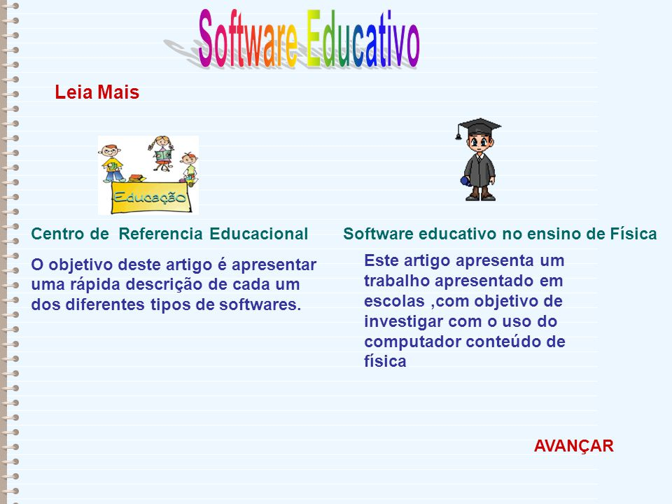 Software Educativo Leia Mais Centro de Referencia Educacional