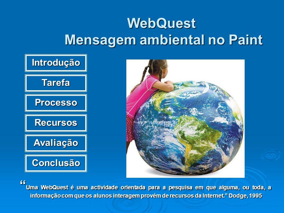 WebQuest Mensagem ambiental no Paint