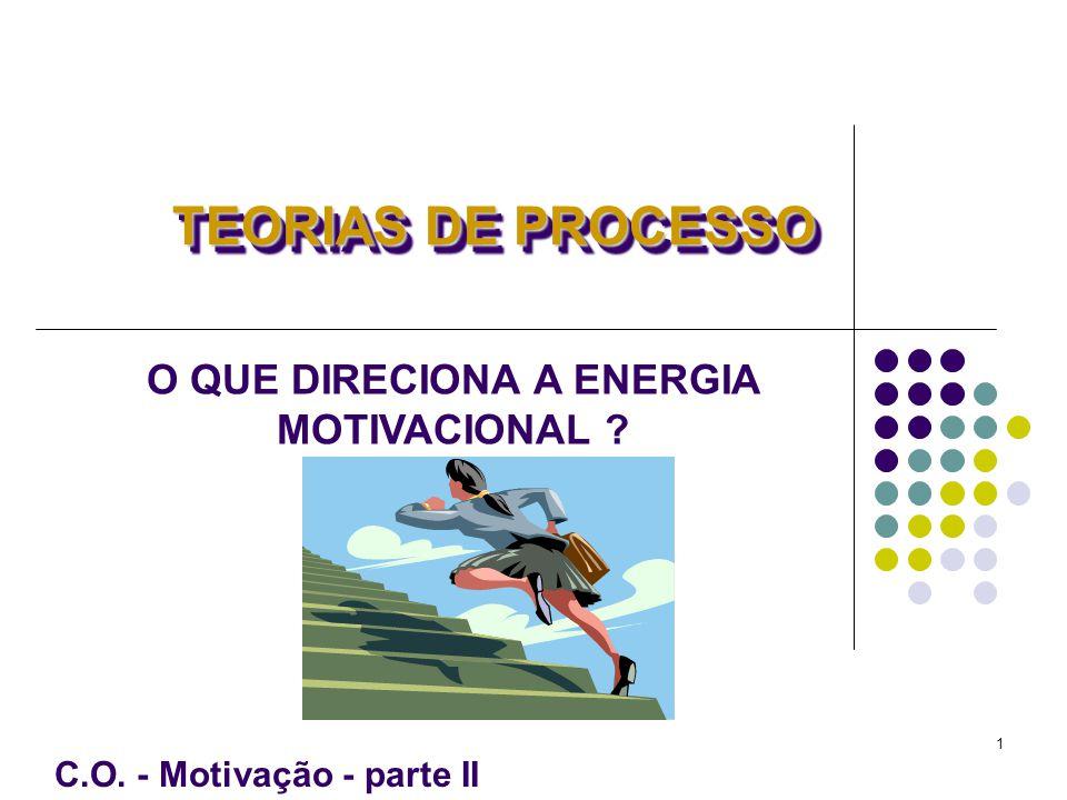 O QUE DIRECIONA A ENERGIA MOTIVACIONAL C.O. - Motivação - parte II