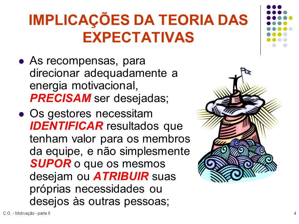 IMPLICAÇÕES DA TEORIA DAS EXPECTATIVAS