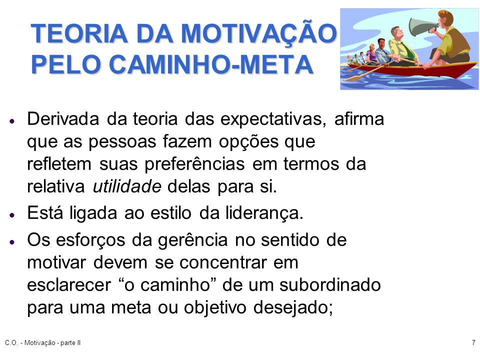 TEORIA DA MOTIVAÇÃO PELO CAMINHO-META