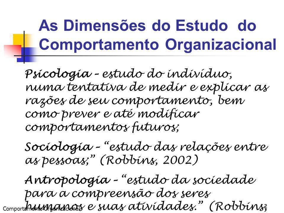 As Dimensões do Estudo do Comportamento Organizacional