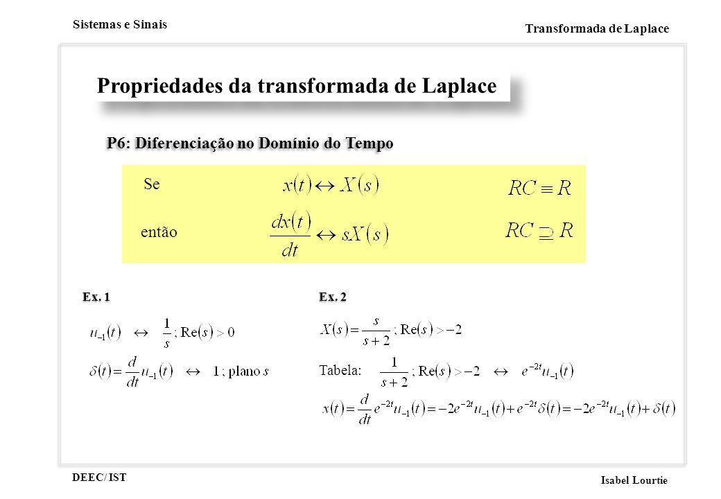 Propriedades da transformada de Laplace