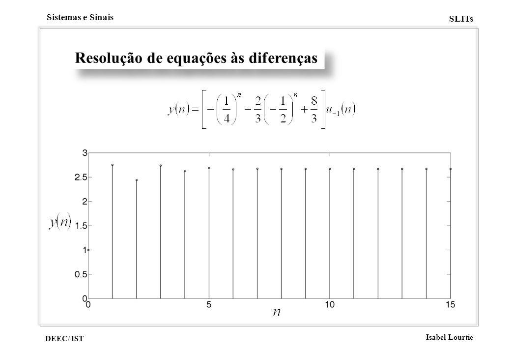 Resolução de equações às diferenças
