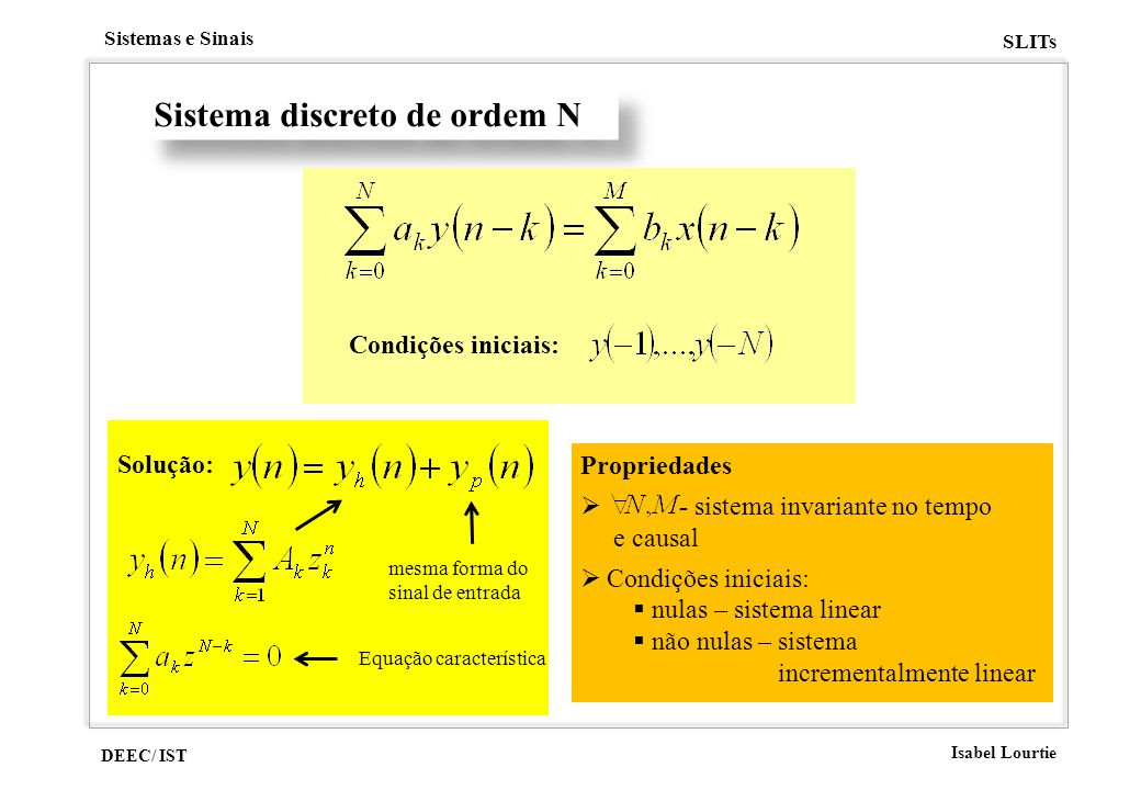 Sistema discreto de ordem N