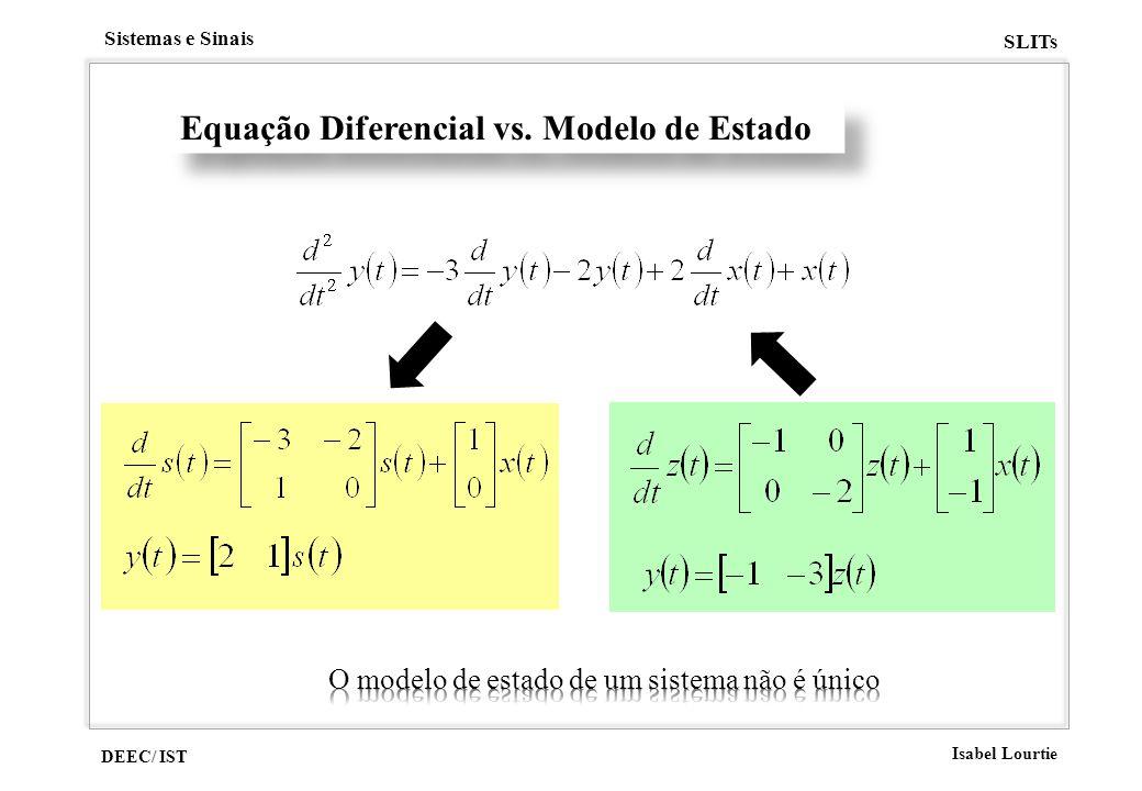 Equação Diferencial vs. Modelo de Estado