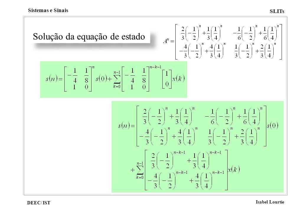 Solução da equação de estado