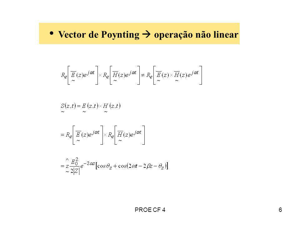 Vector de Poynting  operação não linear
