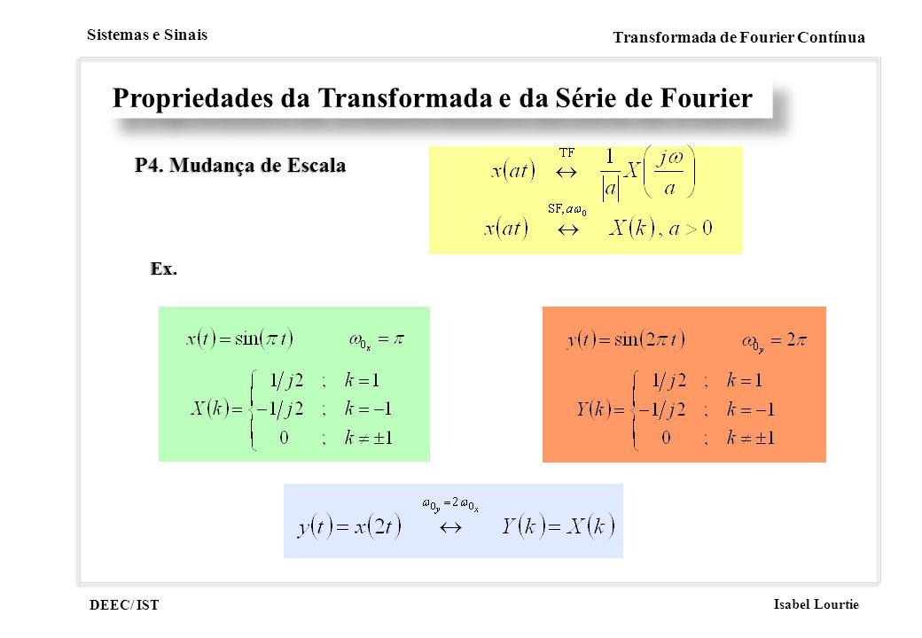 Propriedades da Transformada e da Série de Fourier