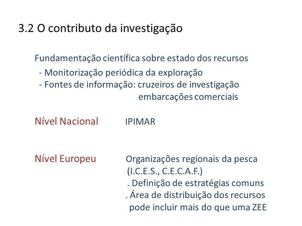 3.2 O contributo da investigação