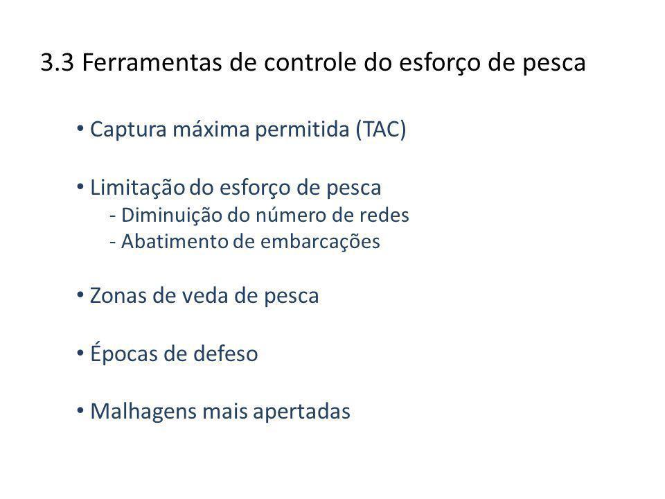 3.3 Ferramentas de controle do esforço de pesca