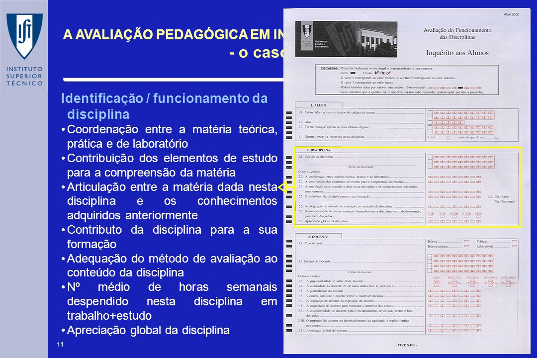 Identificação / funcionamento da disciplina