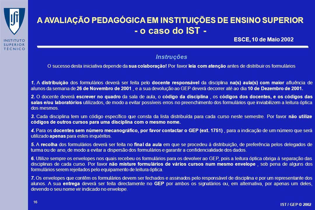 Instruções O sucesso desta iniciativa depende da sua colaboração! Por favor leia com atenção antes de distribuir os formulários.