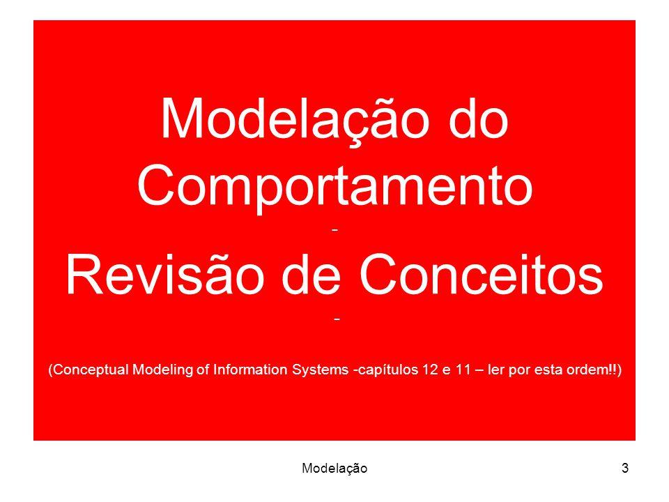 Modelação do Comportamento - Revisão de Conceitos - (Conceptual Modeling of Information Systems -capítulos 12 e 11 – ler por esta ordem!!)