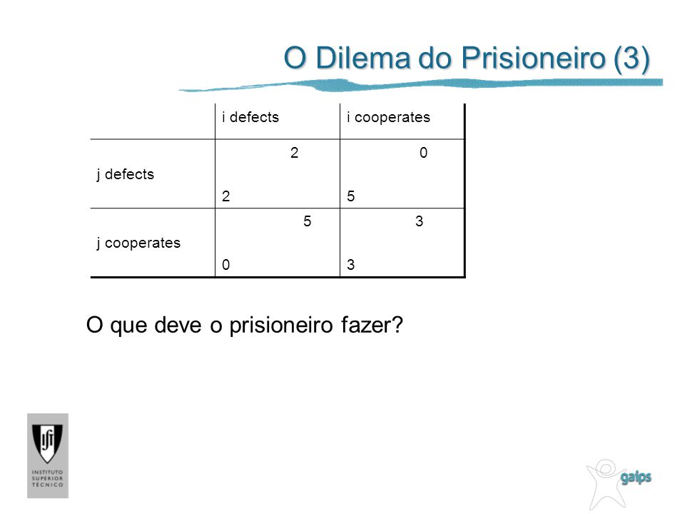 O Dilema do Prisioneiro (3)
