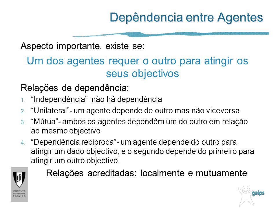 Depêndencia entre Agentes