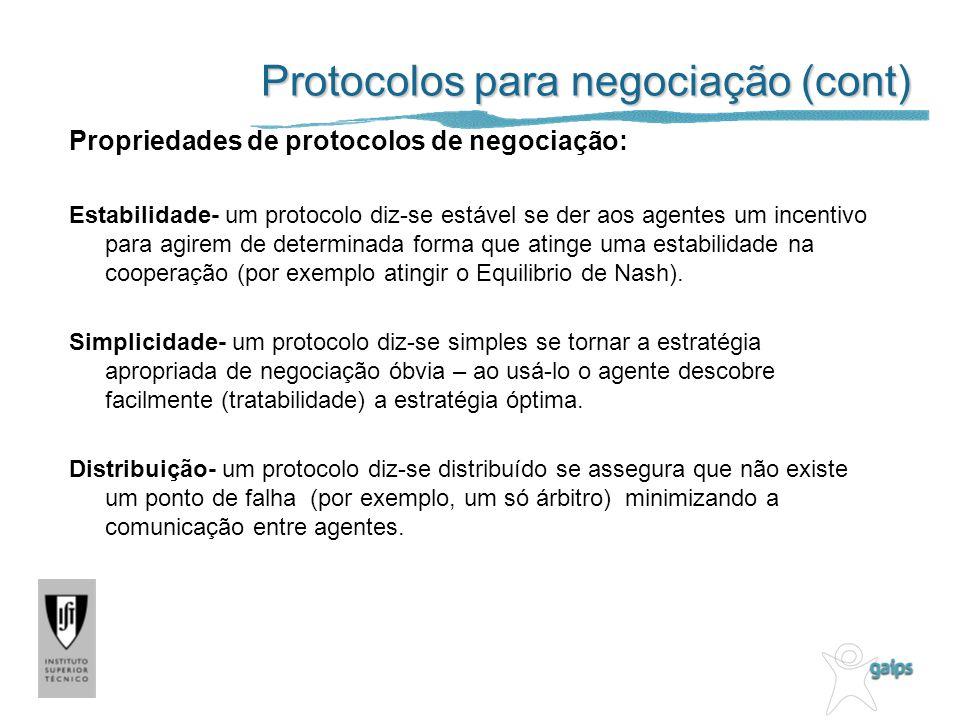 Protocolos para negociação (cont)
