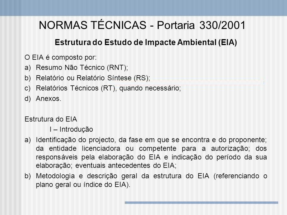 Estrutura do Estudo de Impacte Ambiental (EIA)
