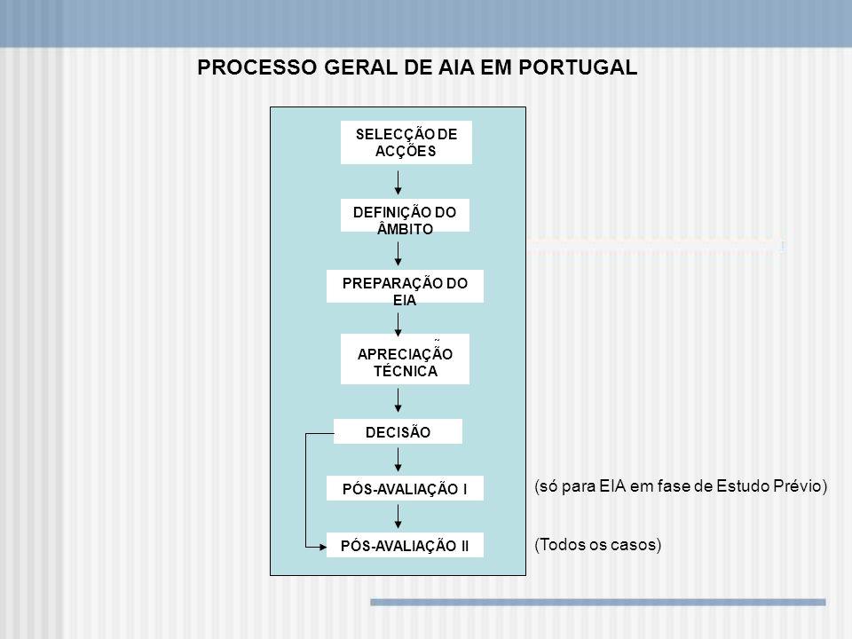 PROCESSO GERAL DE AIA EM PORTUGAL