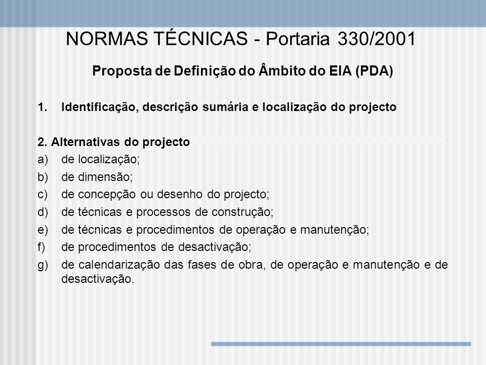 Proposta de Definição do Âmbito do EIA (PDA)