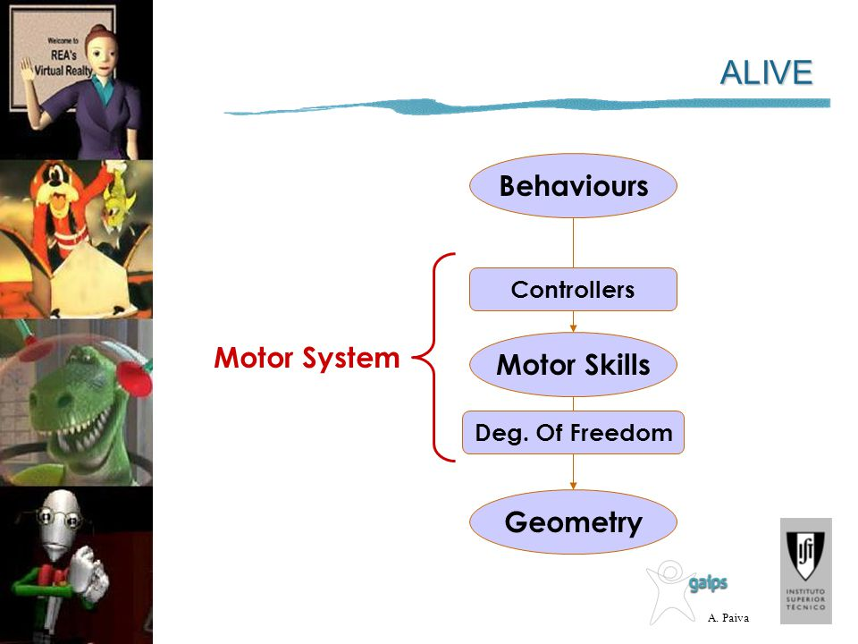 ALIVE Behaviours Motor System Motor Skills Geometry Controllers