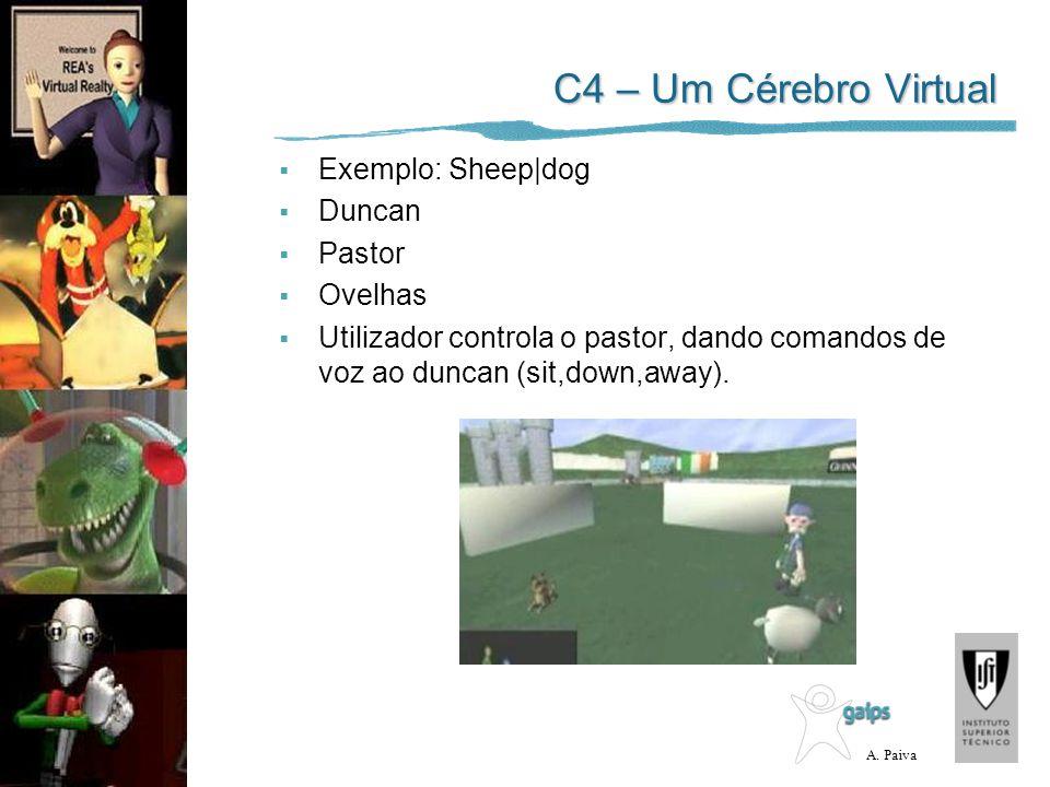 C4 – Um Cérebro Virtual Exemplo: Sheep|dog Duncan Pastor Ovelhas