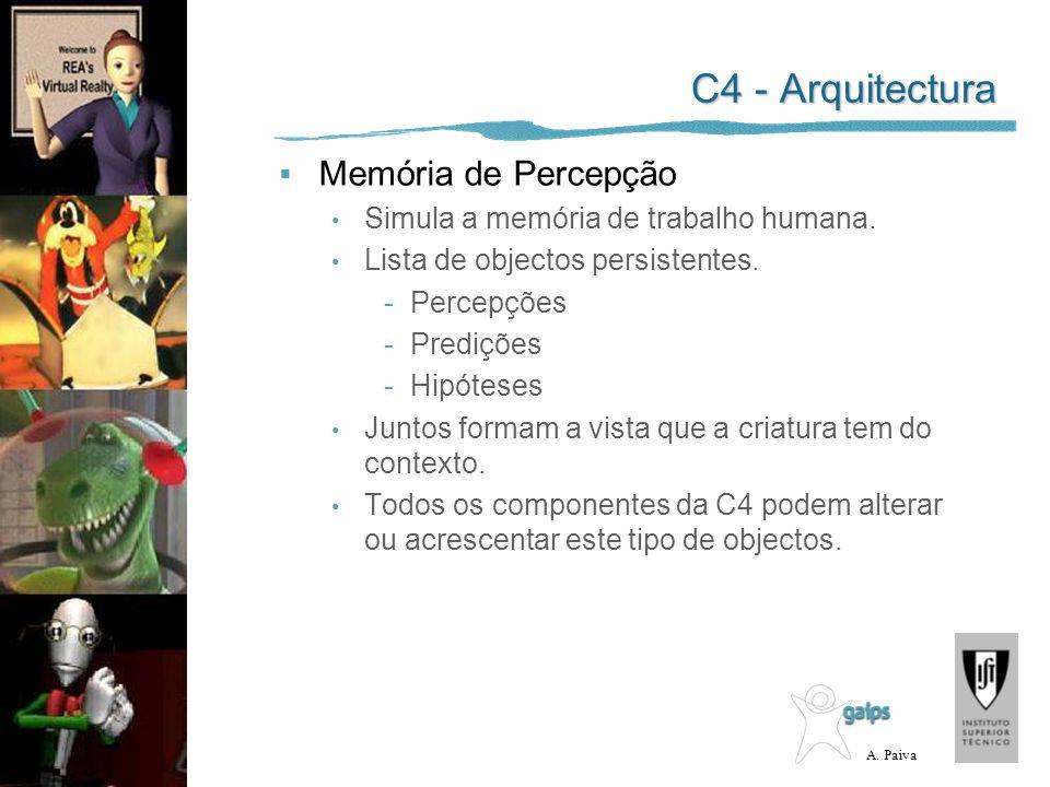 C4 - Arquitectura Memória de Percepção