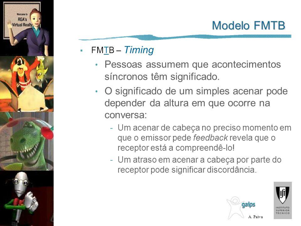 Modelo FMTB FMTB – Timing. Pessoas assumem que acontecimentos síncronos têm significado.