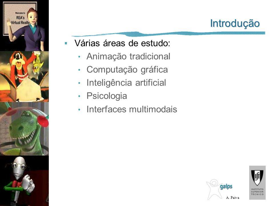 Introdução Várias áreas de estudo: Animação tradicional