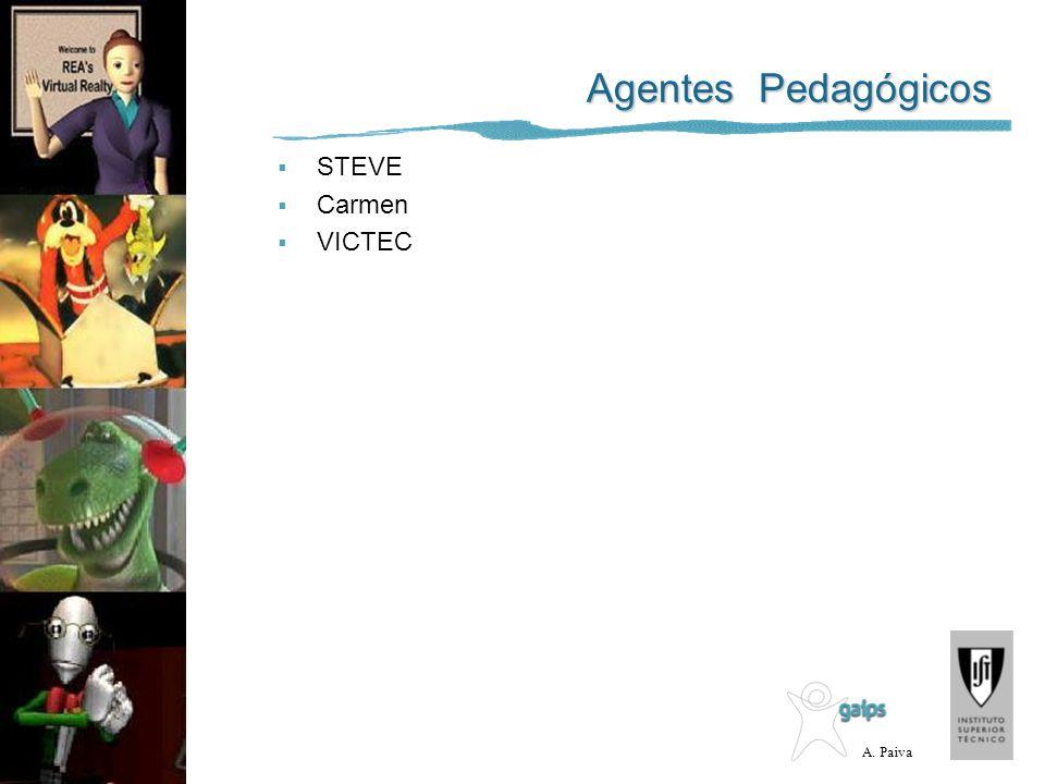 Agentes Pedagógicos STEVE Carmen VICTEC