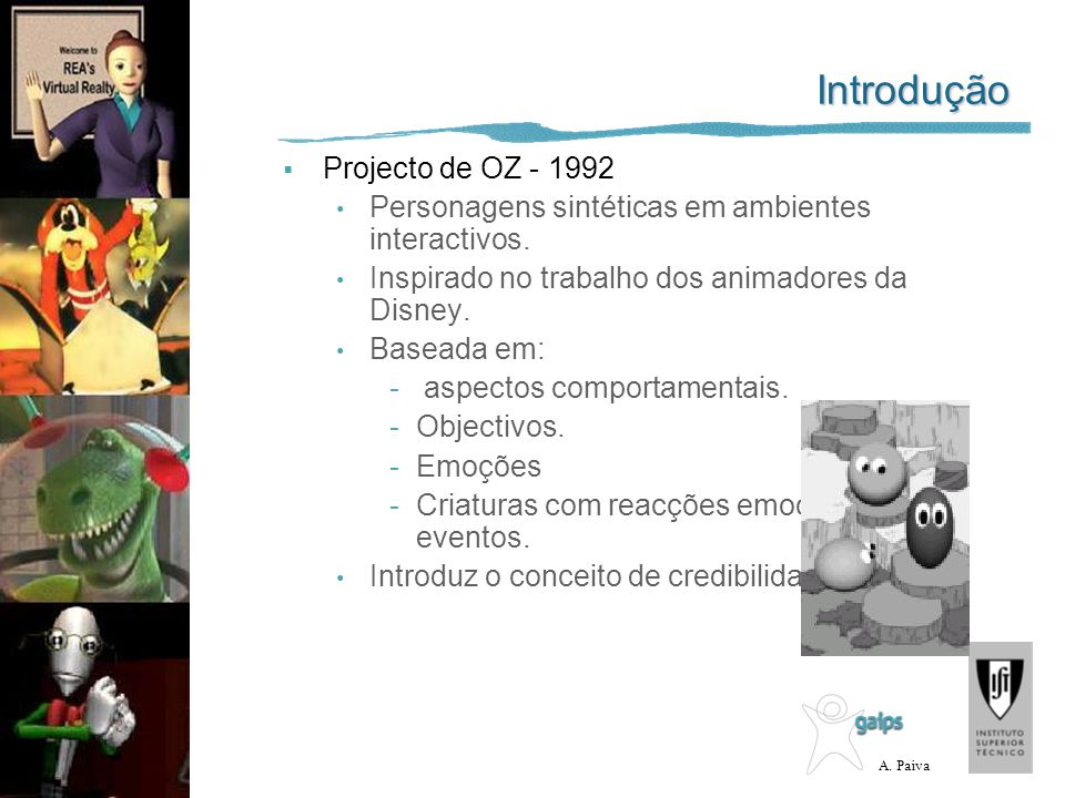 Introdução Projecto de OZ - 1992