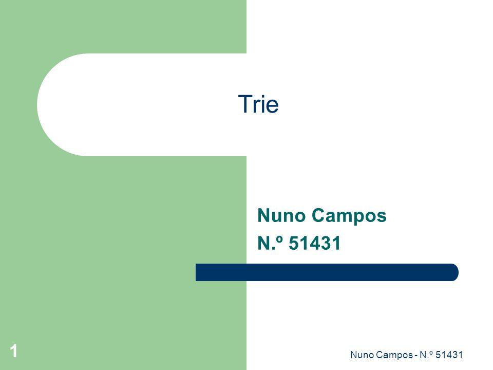 Trie Nuno Campos N.º 51431 Nuno Campos - N.º 51431