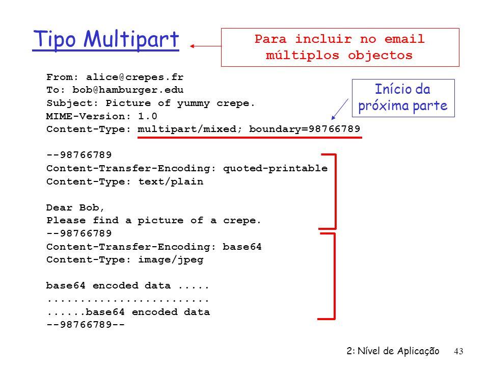 Para incluir no email múltiplos objectos